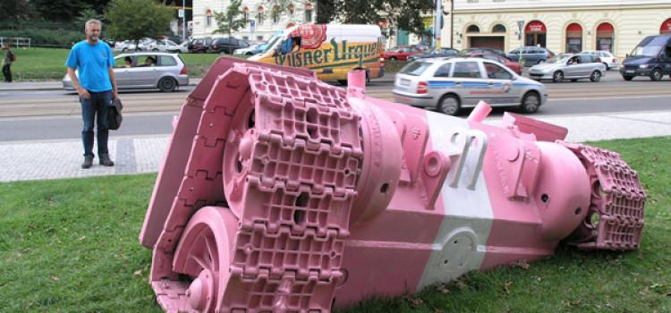 Розовые танки Давида Черного
