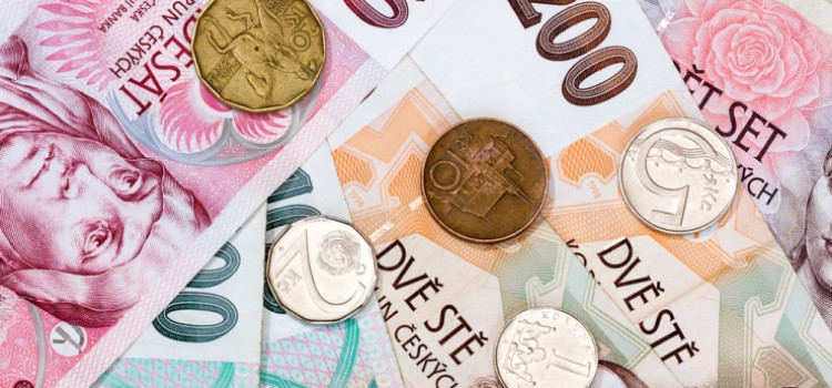 Чешская крона упала на рекордно низкий уровень по отношению к доллару
