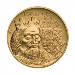Zlatý čtyřicetidukát Jan Lucemburský stand